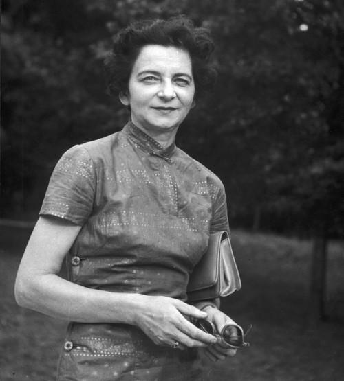 1960 Warszawa n/z Grazyna Bacewicz kompozytor  fot. Andrzej Zborski/FOTONOVA