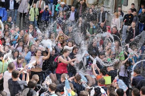 Blöta måndagen i Lviv